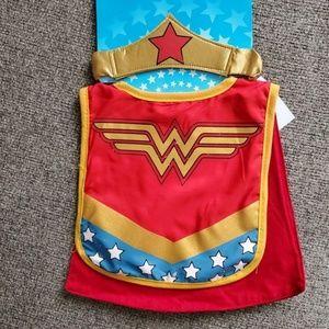 Wonder Woman infant bib and matching headband
